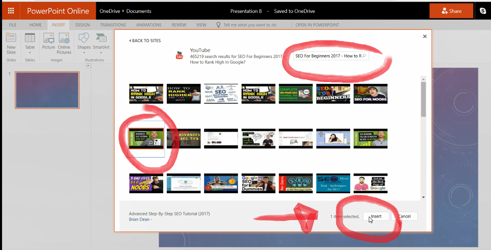 Preview The YouTube Video On PowerPoint Presentation